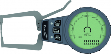 Digital External Quicktest Gauge, IP67, 0 - 15 mm