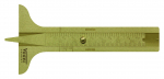 Brass Tread Depth Gauge, 60 mm / 2.4 mm