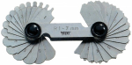 Radius Gauge, stainless steel, 1.0 - 7.0  mm, 34 blades